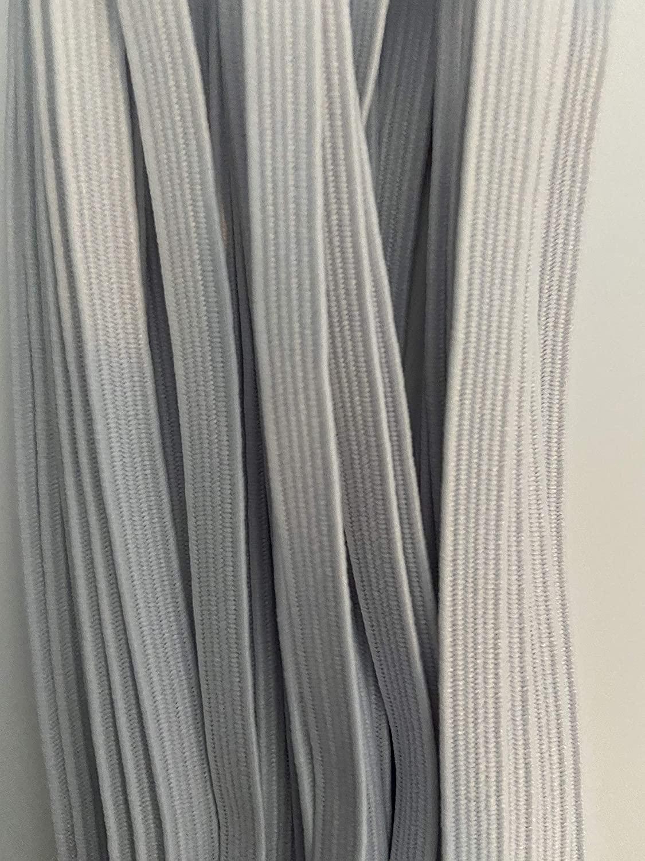 Elastic 1/4 Inch (6mm) White Flat Polyester Elastic 10 Yards