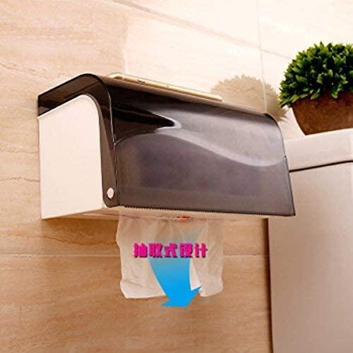 GTVERNHtoilet Paper Towel Box Suction Cup Paper Towel Rack Kitchen Toilet Paper Rack Punching Paper Box Toilet Roll Paper Rack