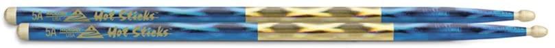Hotsticks Macrolus Wood Tip 5A Drumsticks - Blue