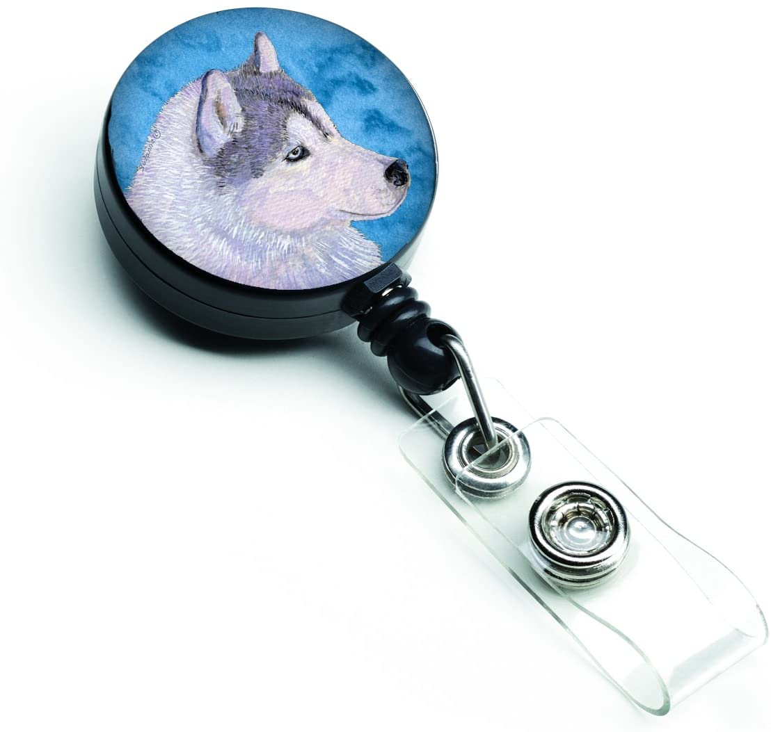 Caroline's Treasures Corgi Retractable Badge Reel or ID Holder with Clip, Multicolor (SS4740-BU-BR)