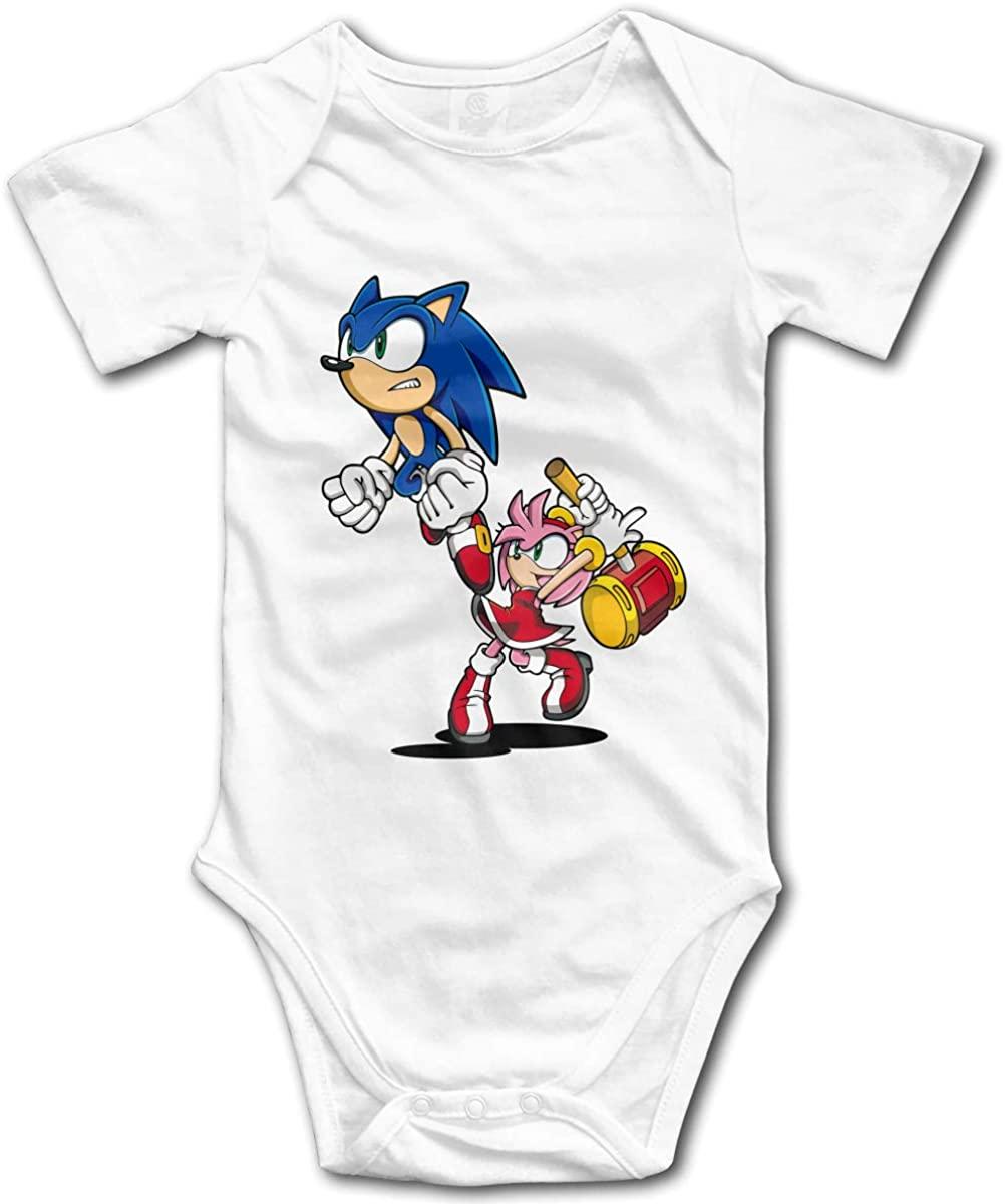 NYF Sonic The Hedgehog Baby Onesie Newborn Baby Bodysuit Outfits Infant Shirt