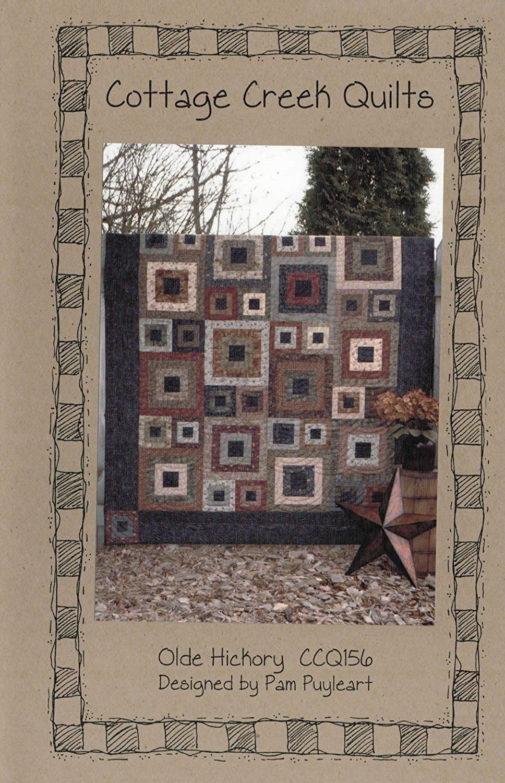 Cottage Creek Quilts Olde Hickory Quilt Pattern, Fat Quarter Friendly, 60.5