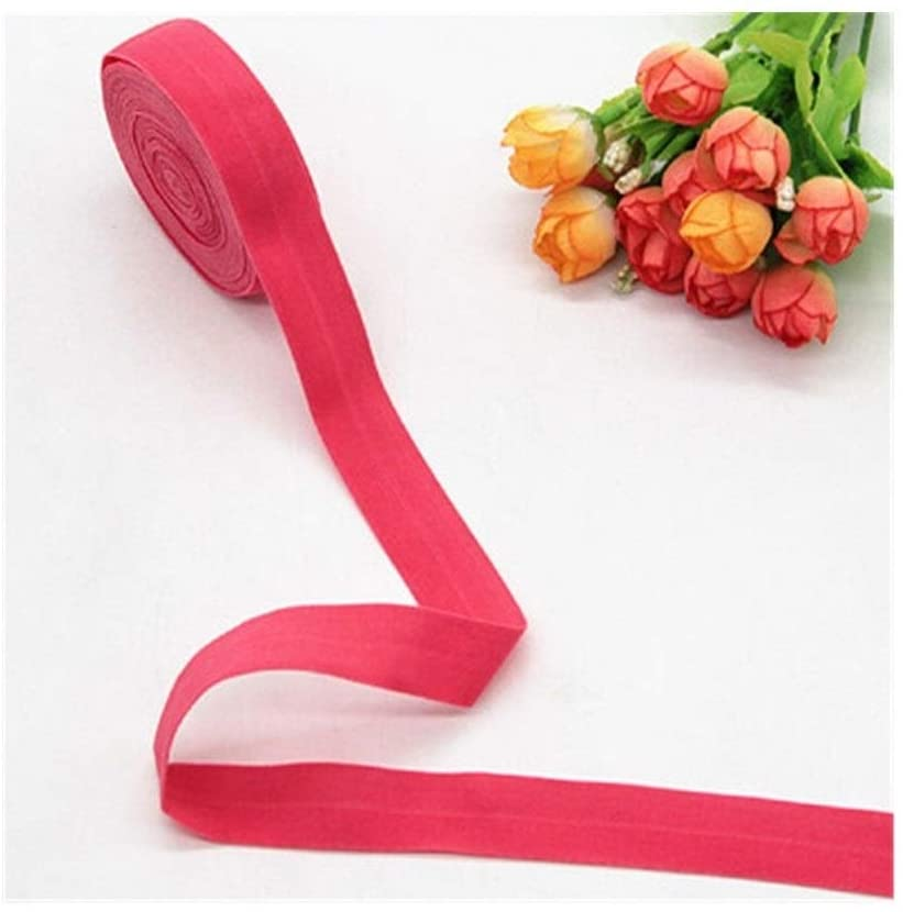 WLDZSW 20mm Rubber Band Fold Over Elastic Band 2cm for Underwear Pants Bra Rubber Clothes Adjustable Soft Waistband Elastic 20mm 5m (Color : Watermelon red, Width : 2cm)