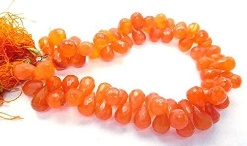 GemAbyss Beads Gemstone Natural Carnelian Gemstone Faceted 7-10 Mm Tear Drop Shape Beads 10 Inch Long Strand Tear Drop Bead,Teardrop Beads,Drop Beads,Faceted Beads Code-MVG-43898