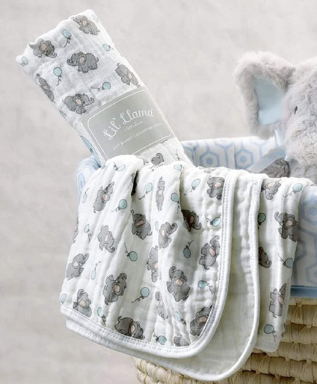 Giftcraft Lil' Elephant Swaddling Blanket