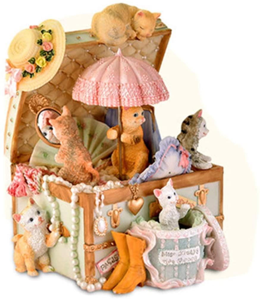 ZhihuaHd Cat Music Box Music Box Creative Birthday Gift Girl Send Children Girl Girlfriends Girlfriend Beautiful Home Decorations (Style : 1)