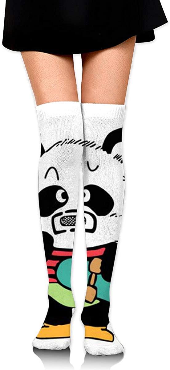 Knee High Socks Panda Skateboarding Women's Athletic Over Thigh Long Stockings