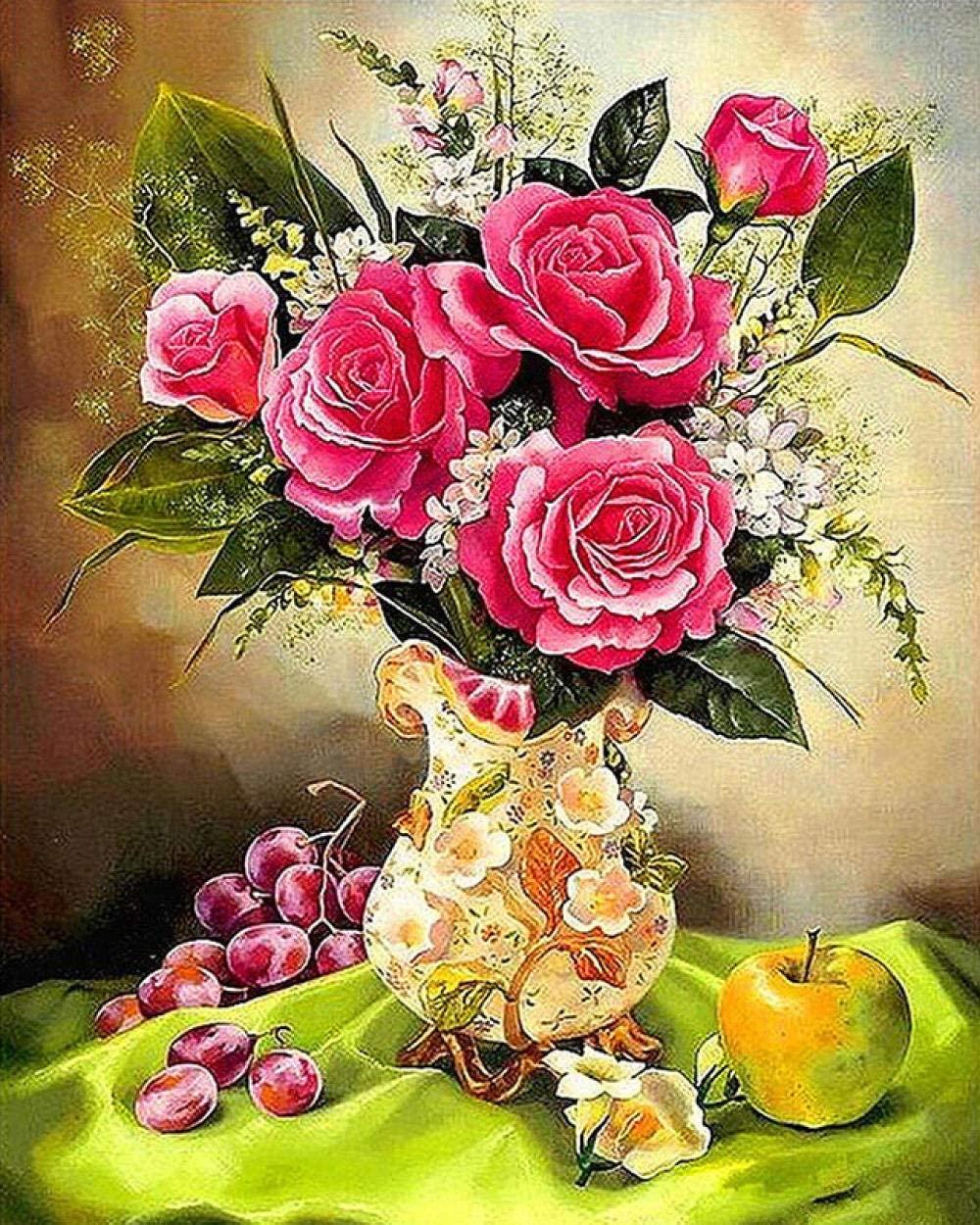 5D DIY Diamond Painting Rose Home Decoration Cross Stitch kit Round Diamond Embroidery Craft Art Gift 70x90cm