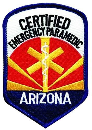 ARIZONA CERTIFIED EMERGENCY PARAMEDIC - Star of Life Patch - 3 X 4-1/4