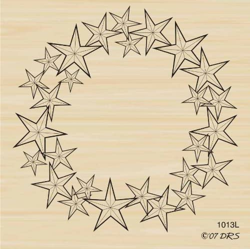 Star Wreath Rubber Stamp by DRS Designs