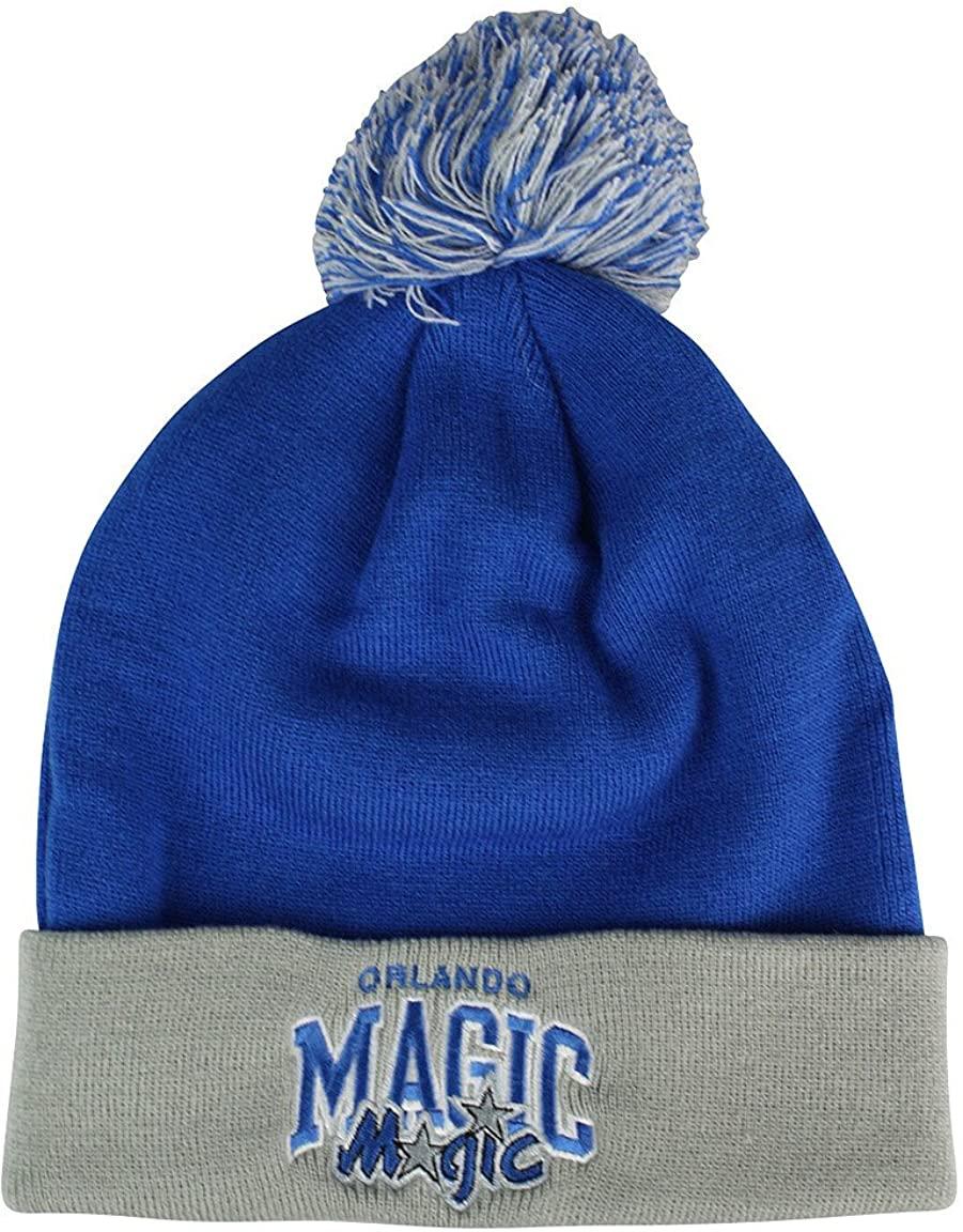 Orlando Magic Arched Logo Vintage Cuffed Pom Hat