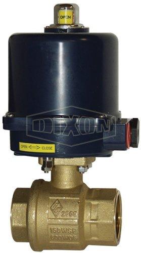 Dixon BV2BV-05011-EA Actuated FNPT Ball Valve, 115 VAC, NEMA 4, 1/2