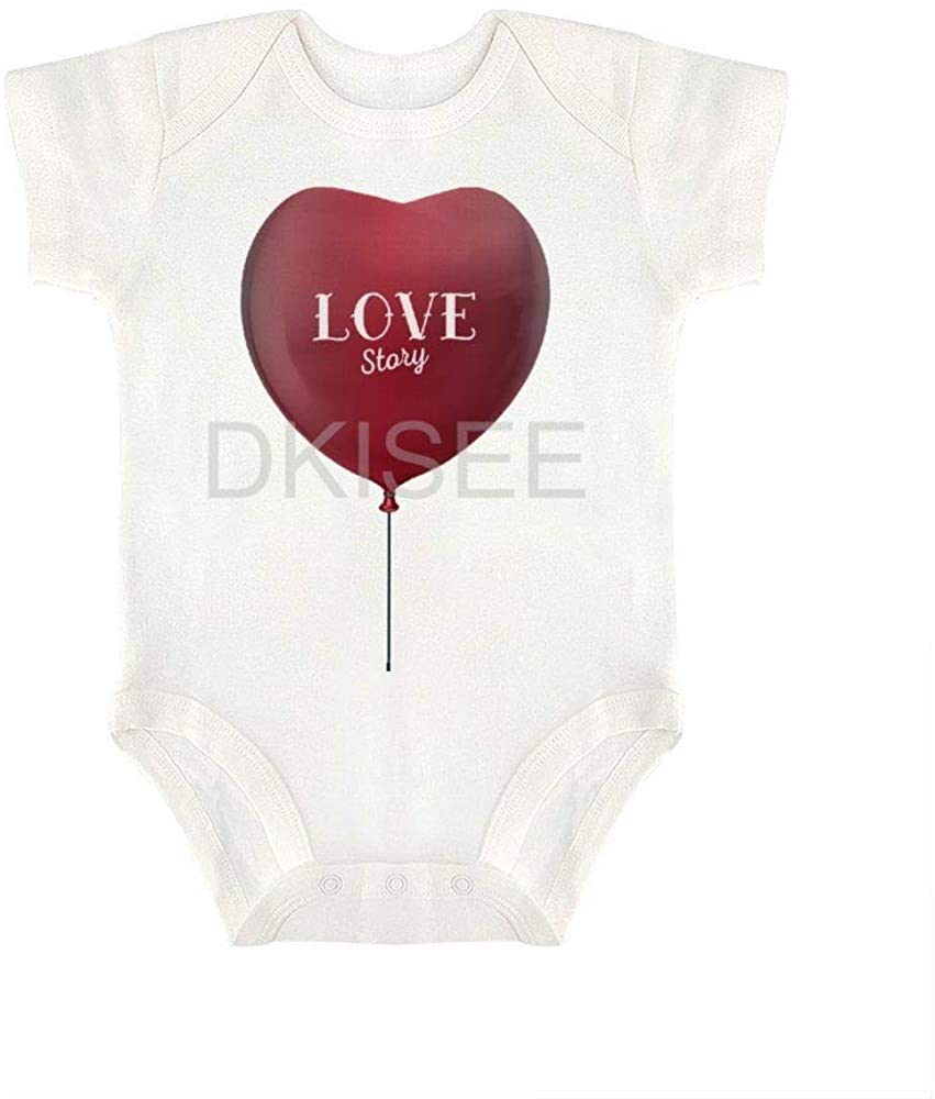 DKISEE Comfortable Baby Boys Girls Romper Jumpsuit Heart Pattern10 Short Sleeve Bodysuits Infant Funny Onesies Bodysuits