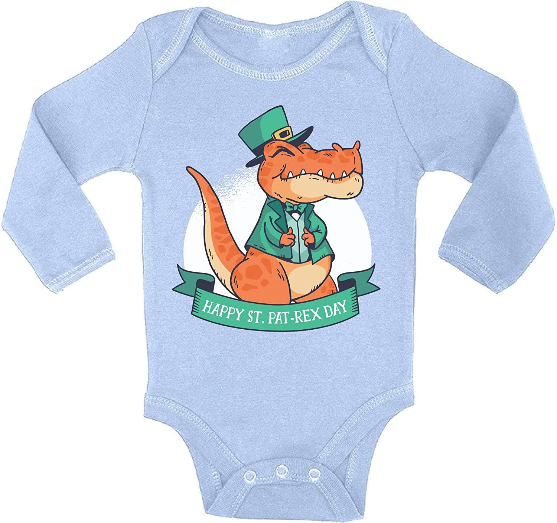 Awkward Styles Saint Patrick's Day Bodysuit St. Pat-rex Baby Romper Irish Day