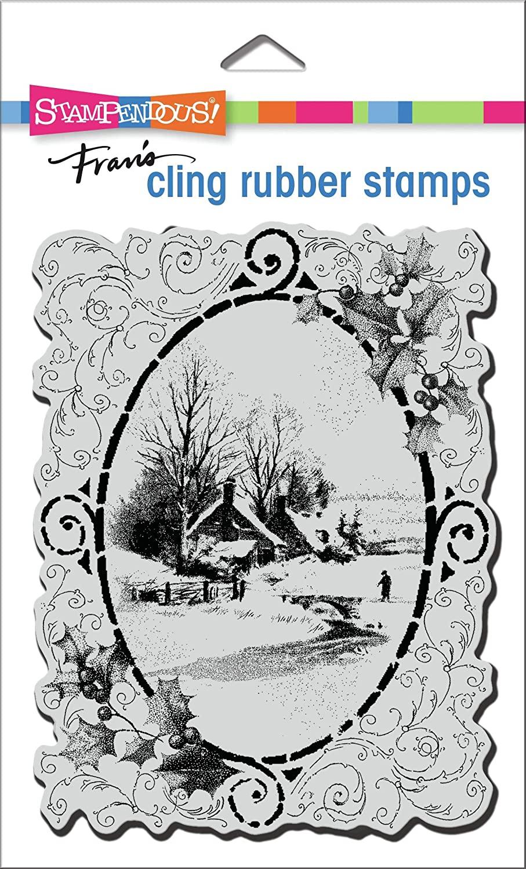 STAMPENDOUS Cling Rubber Stamp VNTG VIGNE