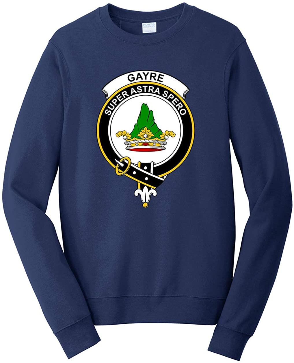 Tenacitee Men's Scottish Clan Crest Badge Gayre Sweatshirt