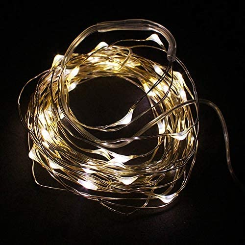 Cables Occus 1pcs 2M Environmental Energy Saving Friendly String Fairy Light 20 LED Battery Operated Xmas Lights Party Wedding - (Cable Length: Other, Color: Warm White)