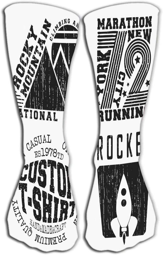 YILINGER Knee High Fun Socks 19.7