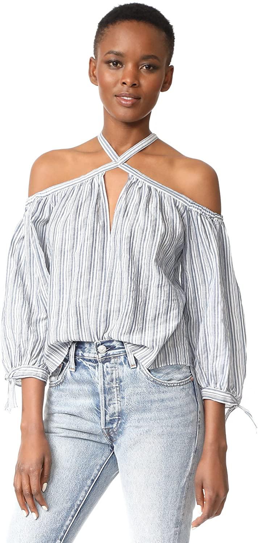Rebecca Taylor Women's Slim Os Yd Stripe Top