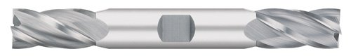 Titan TC12512 Solid Carbide End Mill, Double End, Regular Length, 4 Flute, 30 Degree Helix, Square End, Uncoated, 3/16