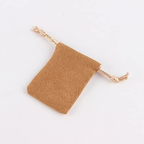 10pcs/lot 5 * 7 cm Suede Drawstring Pouch Factory Wholesale Packing Jewelry Pouch Bag Yellow