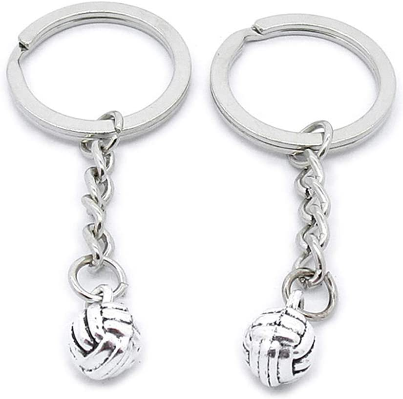 10 Pieces Keyring Keychain Wholesale Suppliers Jewelry Clasps ZL4C1G Volleyball