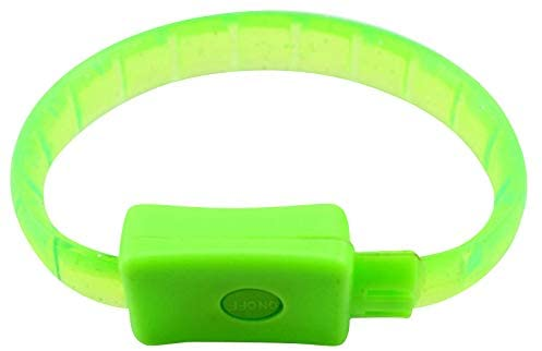 The Electric Mammoth Set of 4 LED Light Up Party Bracelets Wristbands (Green)