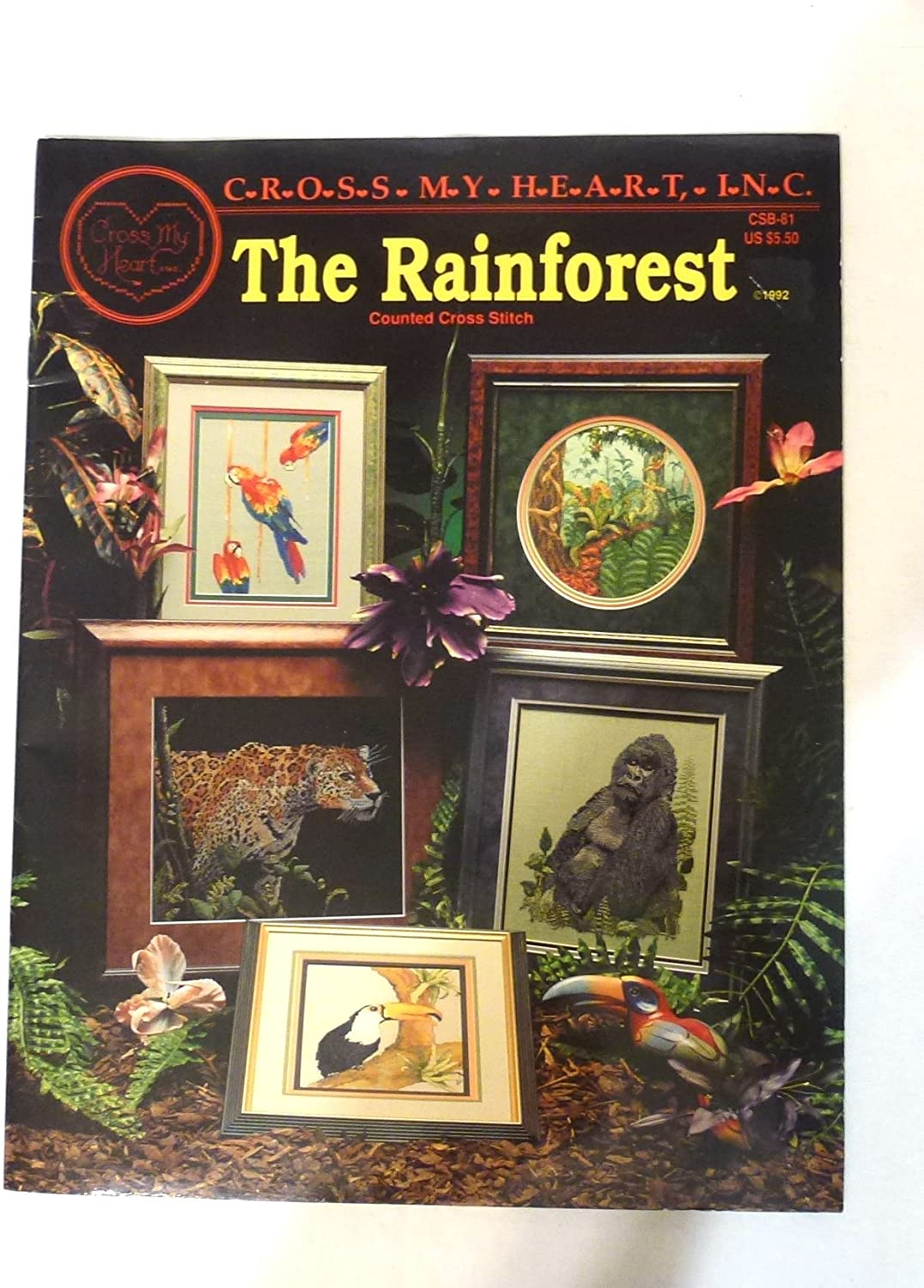 Cross My Heart The Rainforest Counted Cross Stitch Pattern Booklet - CSB81