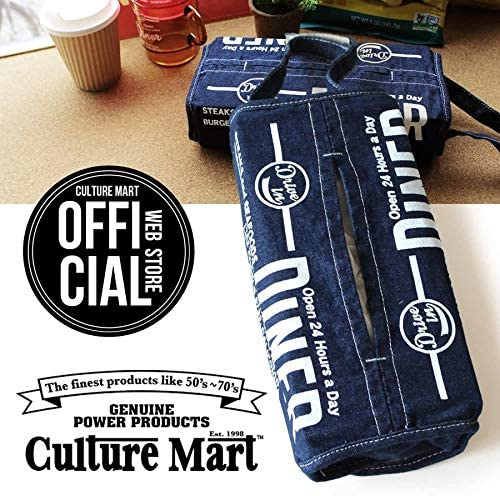 CULTURE MART DENIM TISSUE COVER (WHITE) 101221-1