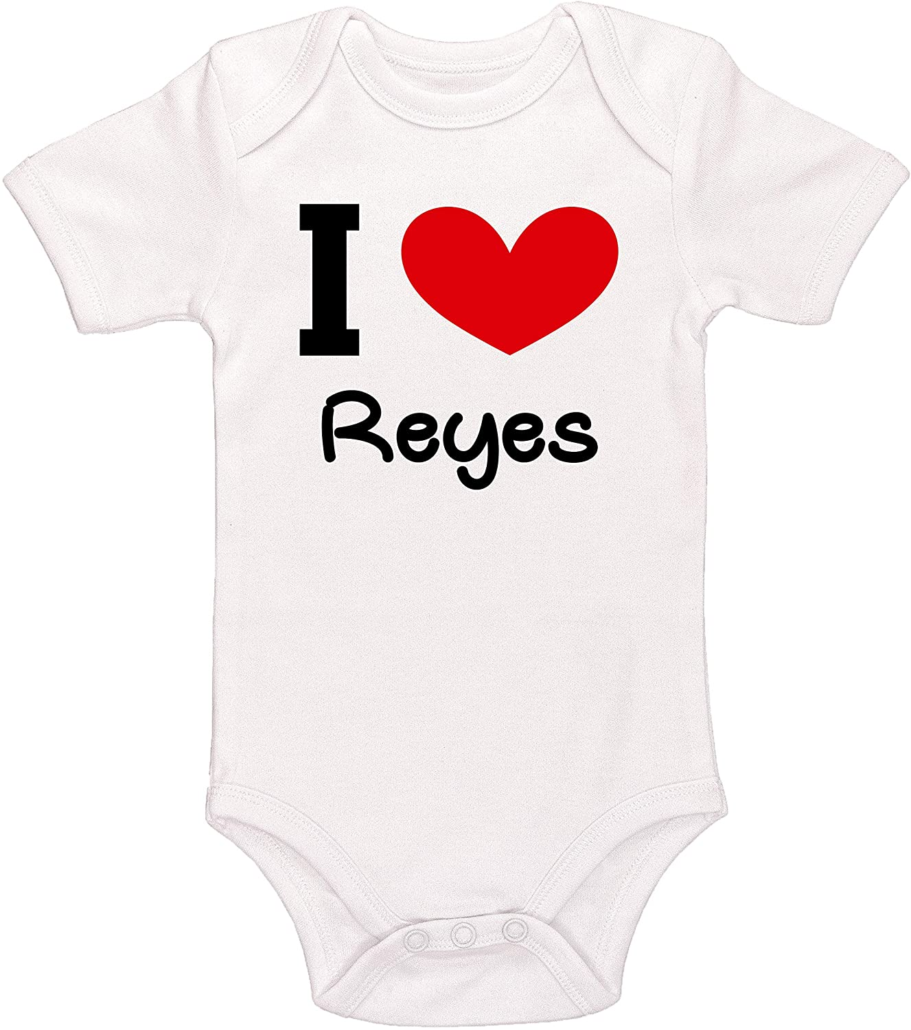 Kinacle I Love Reyes Personalized Baby Bodysuit