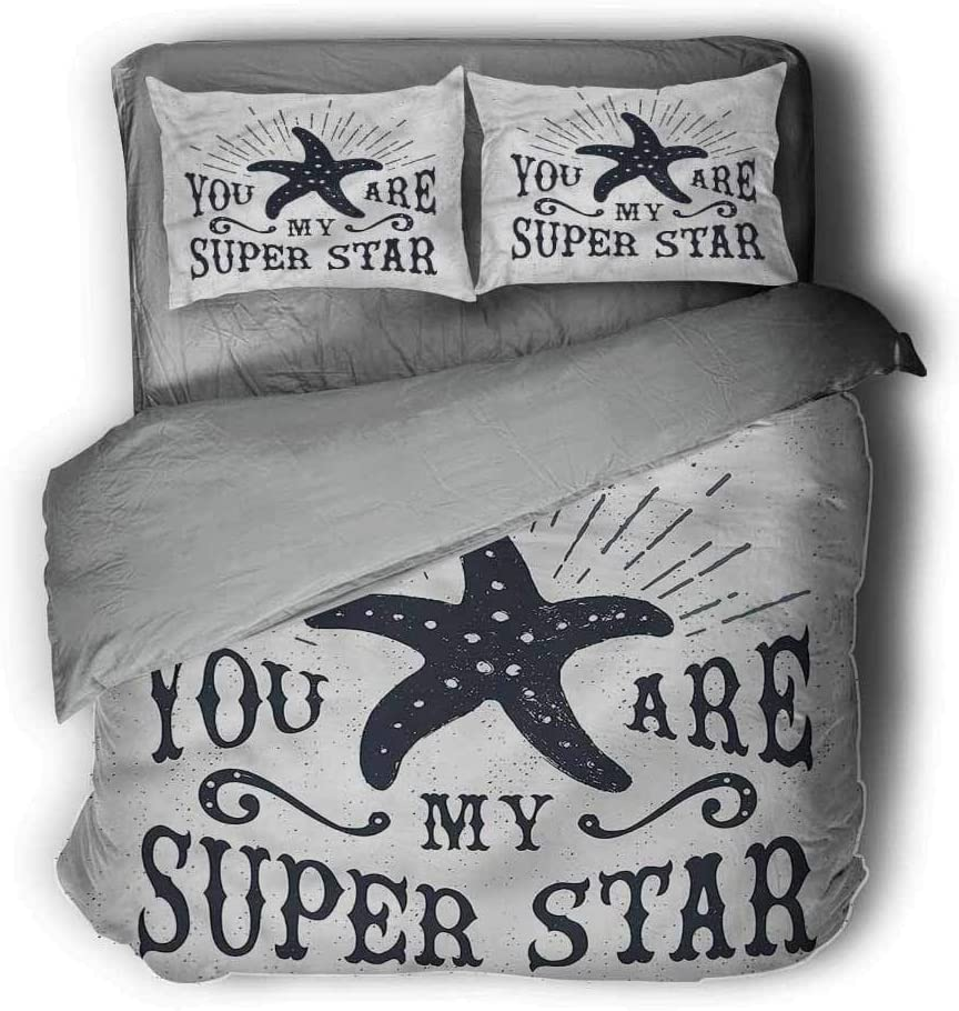 Starfish Extra Large Quilt Cover Vintage Label Can be Used as a Quilt Cover-Lightweight (Full)