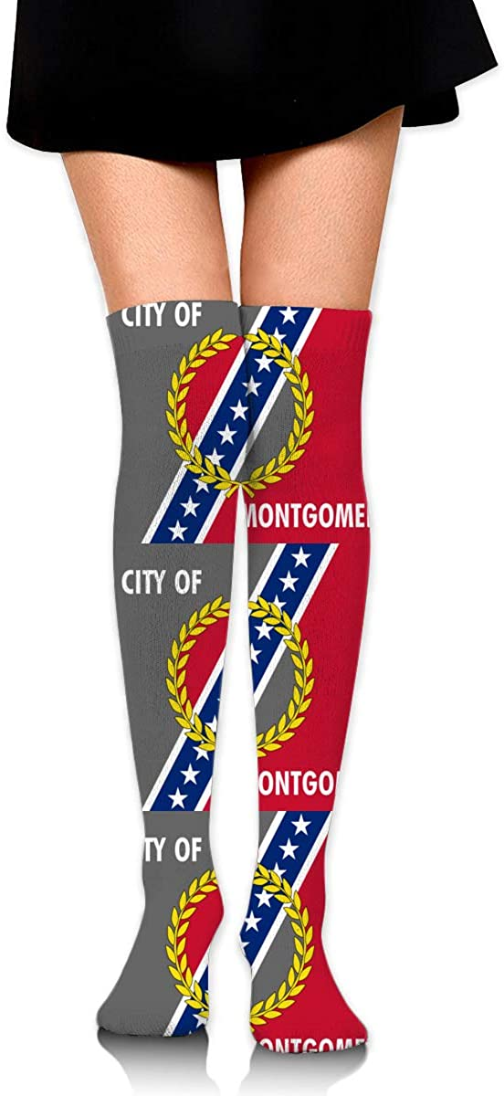 Knee High Socks Montgomery City Flag Women's Athletic Over Thigh Long Stockings