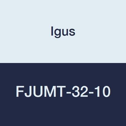 Igus FJUMT-32-10 DryLin Low Clearance Twin Flange Square Design Pillow Block, Aluminum/Plastic, 52 mm Length