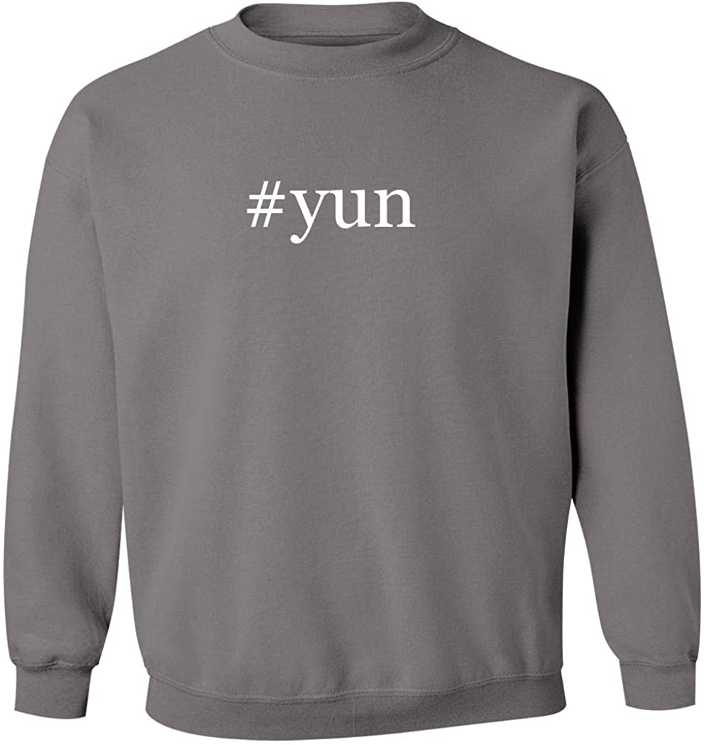 #yun - Men's Hashtag Pullover Crewneck Sweatshirt, Grey, XXX-Large