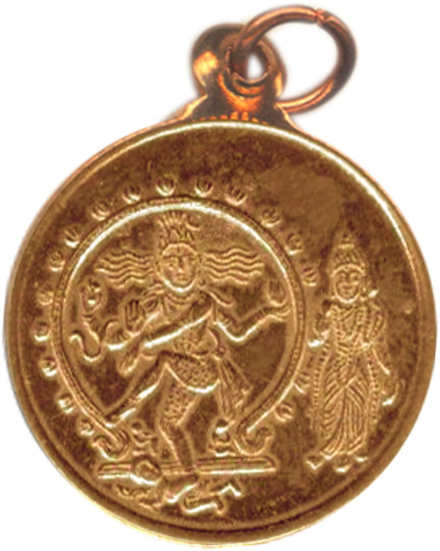Devotional Store Lord of Dance Shiva Nataraja Parvati Natarajar Natarajan Copper Pendant Kavach