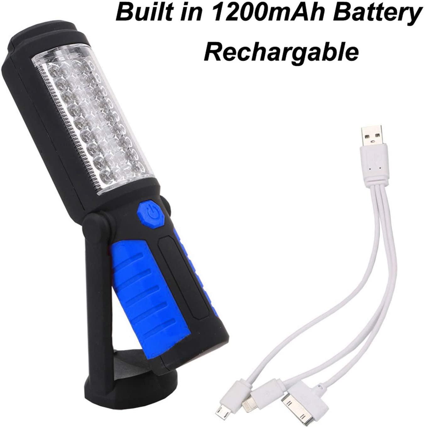 ALWAYS ME USB Charging/3AA 36+5 Magnetic Work Hand Flashlight Emergency Inspection Work Torch Light Hook Magnet Portable Lanterns