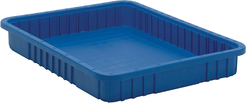 Quantum Storage DG93030BL Dividable Grid Storage Container, 22-1/2 L x 17-1/2 W x 3 H, Blue (Pack of 6)