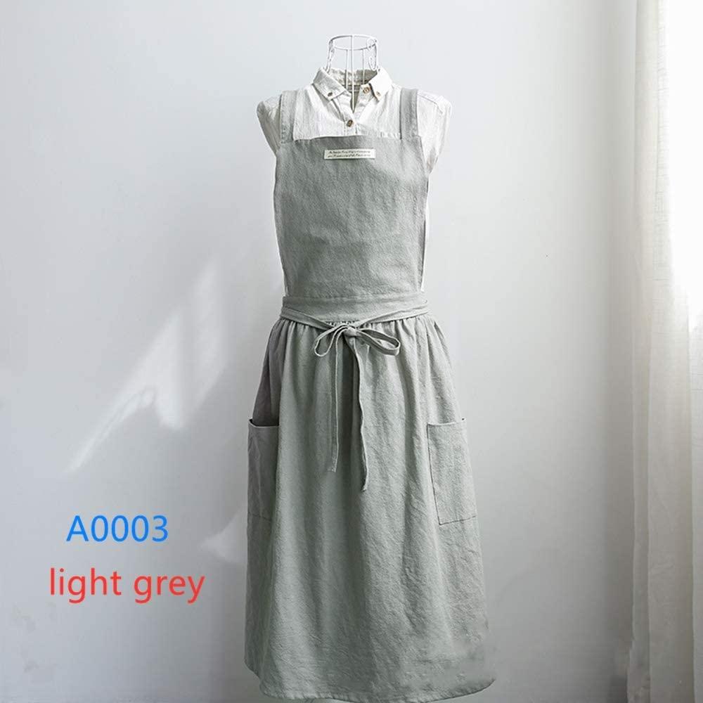 Home Kitchen Cotton Canvas Vest Apron Cafe Supplies Cotton Waist Aprons for Women (A0003)