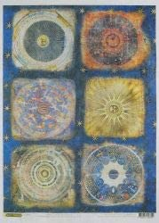 Rice Paper for decoupage Craft PremierMedieval Astronomy, 38.4 x 28.2 cm