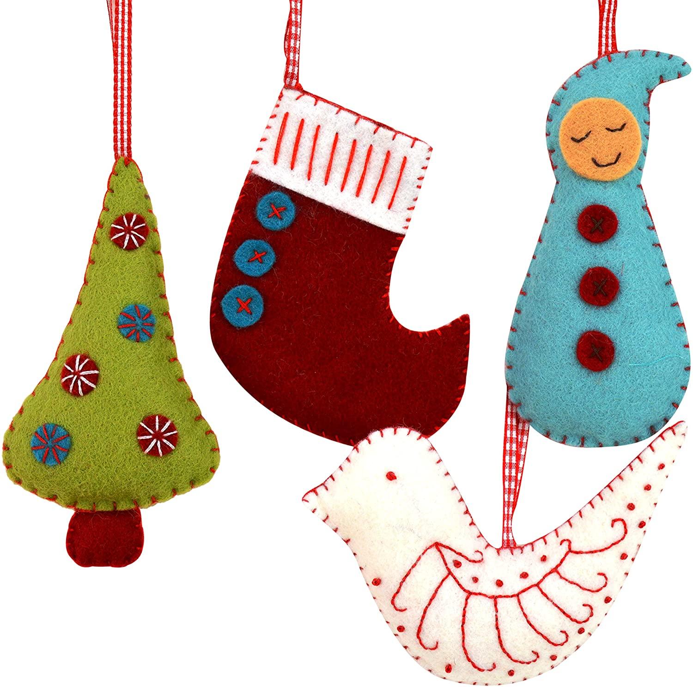 Corinne Lapierre Felt Christmas Decorations Sewing Craft Kit, 12 x 1 x 10 cm