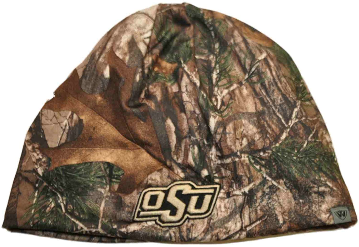 Top of the World Oklahoma State Cowboys Tow Camo Brown Trap 1 Reversible Knit Beanie Hat Cap