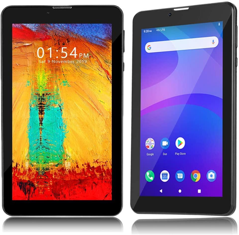 Indigi Unlocked 4G LTE 7-inch Android 9.0 Pie Quad-Core 1.3GHz TabletPC & Smartphone (DualSIM + 2GB RAM/16GB ROM)(BLK)