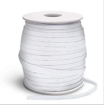 Elastic Bands for Sewing White Elastic 1/4 inch Elastic Strings 100 Yards Barrels White Elastic Cord Heavy Stretch high Elasticity.