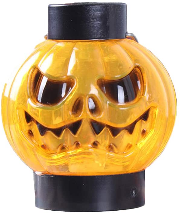 FENICAL LED Halloween Pumpkin Lights Ghost Face Pumpkin Party Lamp Halloween Decoration