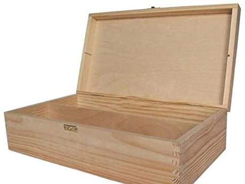 Wooden Box Rectangular 2 Wines 35x20x9 cm, Decoupage Boxes, Subjects, Hobby Colors