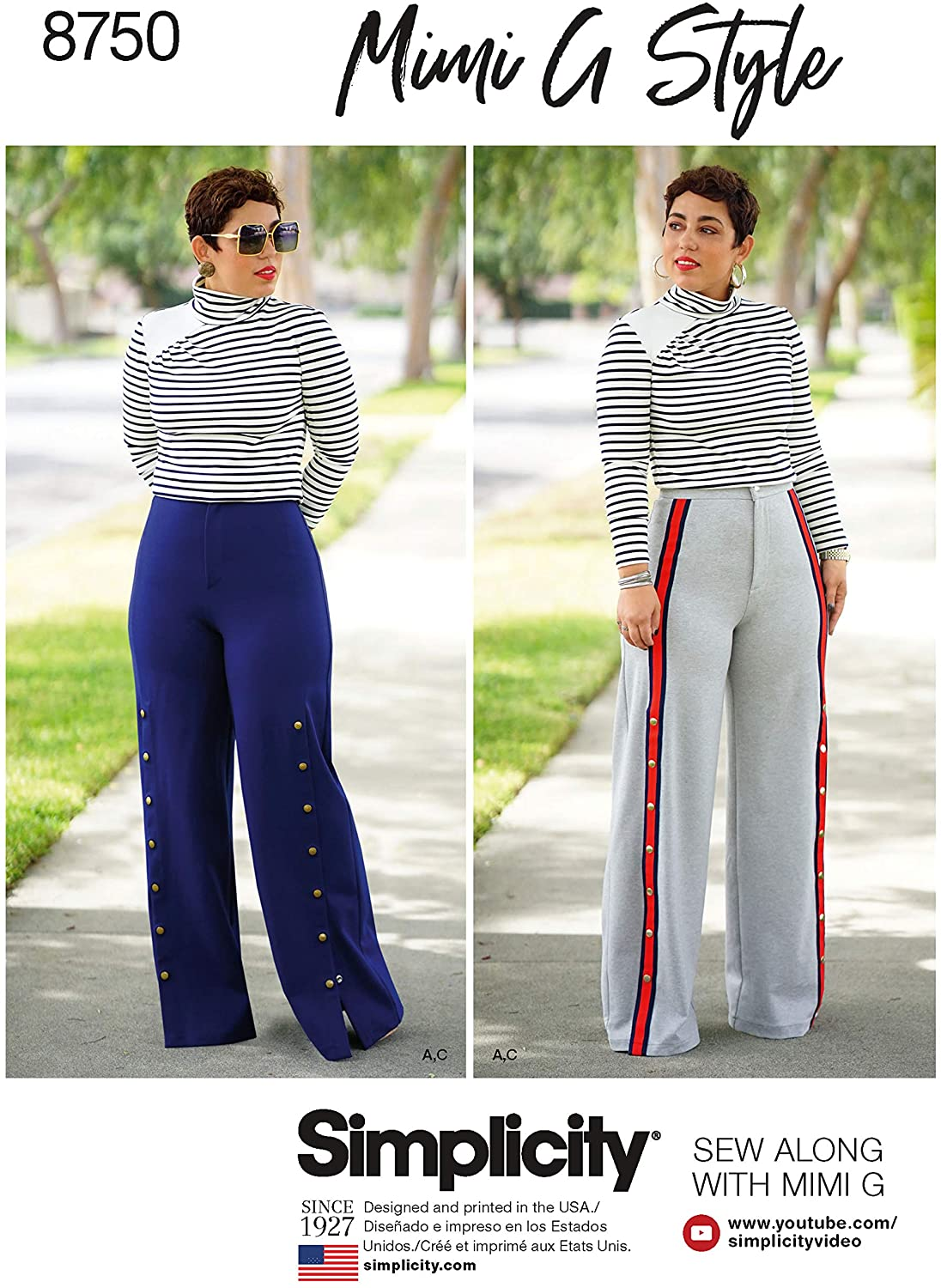 Simplicity Women's Shirts and Wide Leg Pants Sewing Patterns by Mimi G Style, Sizes 6-14