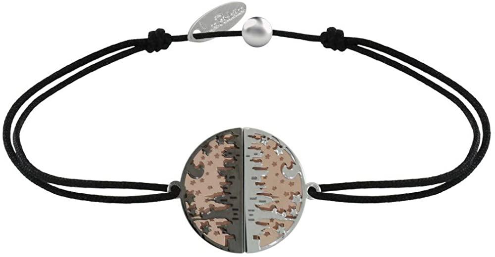 Les Poulettes Jewels - Bracelet Link Silver Pink Gold Plated Ruthenium Medal New York