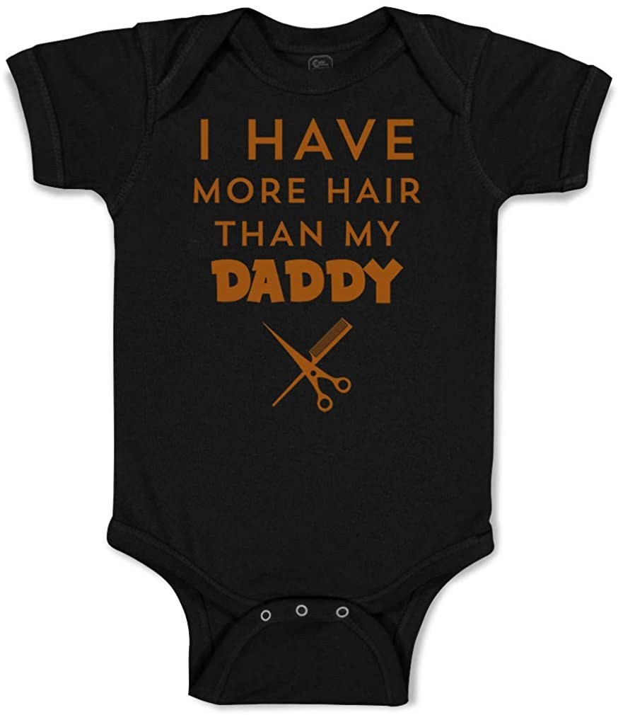 Custom Baby Bodysuit I Have More Hair Than My Daddy Dad Father's Day Humor Funny