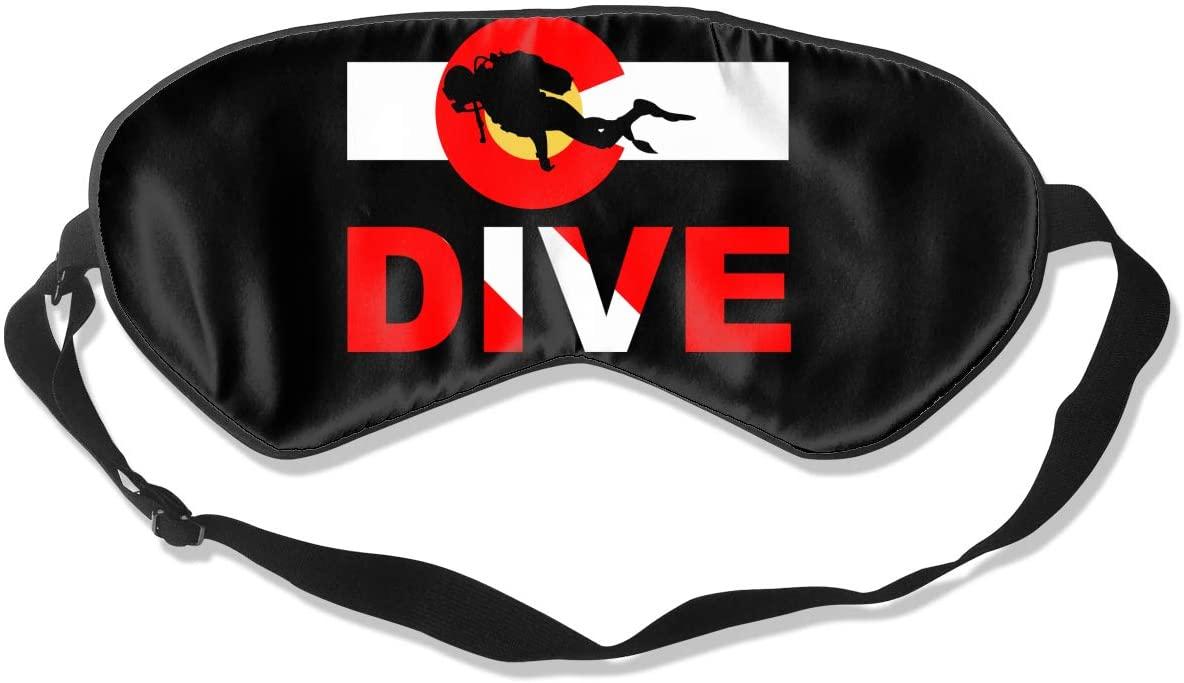 Colorado Flag Scuba Dive Eye Mask Sleeping Mask 100% Double-Sided Silk Eyeshade Eye Cover