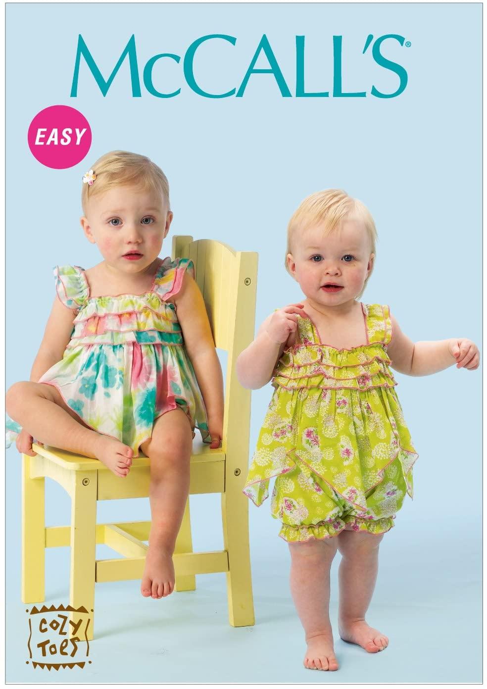 McCall Pattern Company M6942 Infants' Romper, Size YA5
